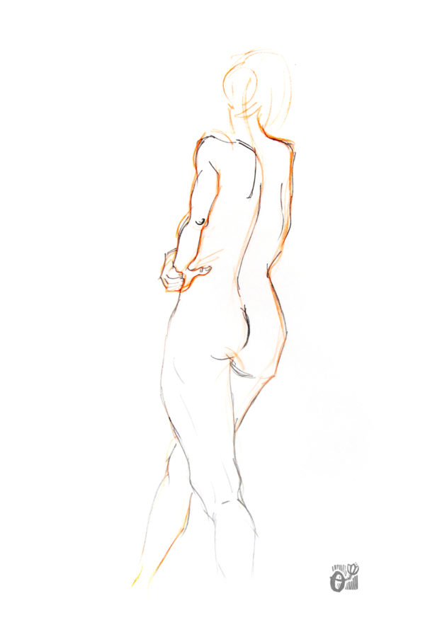 print cuerpo humano dibujo en vivo